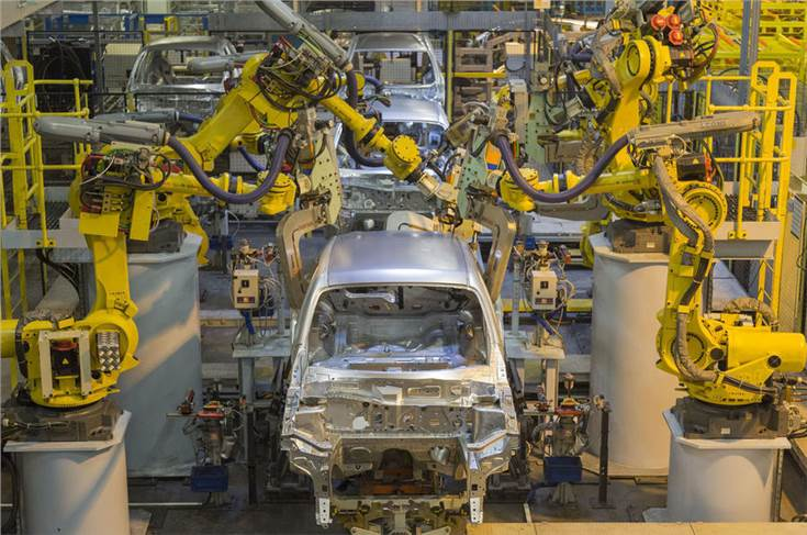 automotive production falls