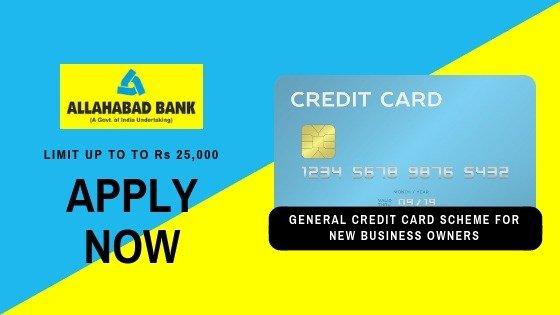 General Credit Card Allahabad Bank