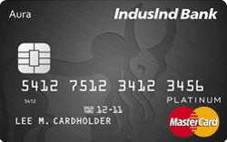 IndusInd bank Platinum Aura Edge Master Credit Card