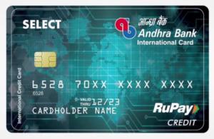 Andhra Bank Loan On Credit Card