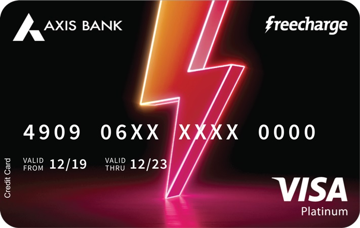 axis bank free charge credit card