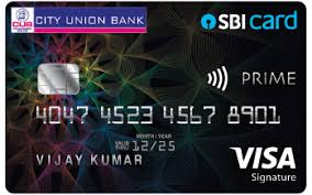 City Union Bank SBI Credit Card Prime