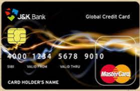 J & K Bank World Credit Card