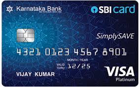 Karnataka Bank SimplySAVE SBI Card