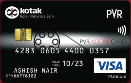 PVR Kotak Platinum Credit Card
