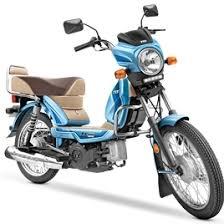 TVS XL100 Loan Mint Blue Model