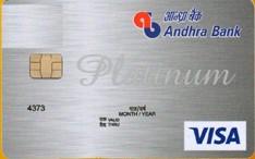 Andhra Bank Visa Platinum Credit Card