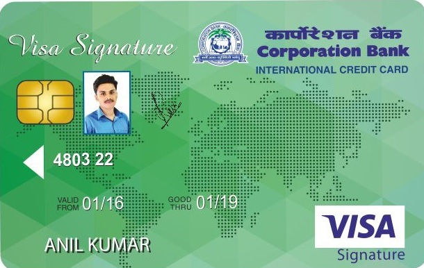 Corporation Bank Signature Credit Card