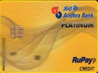 Andhra Bank Rupay Platinum Credit Card