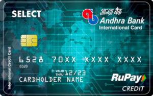Andhra Bank Rupay Select Credit Card