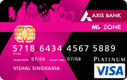 axis bank my zone credit card
