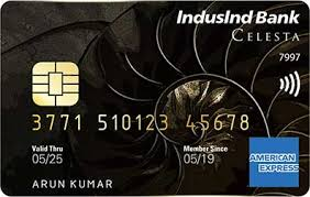 IndusInd Bank Celesta American Express Credit Card