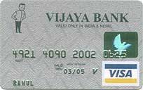 Vijaya Bank Visa Classic International Credit Card