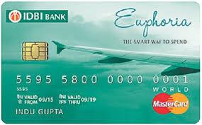 IDBI Bank Euphoria World Credit Card