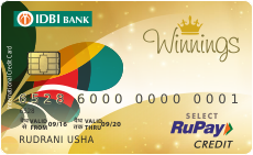 IDBI Bank Winnings Credit Card