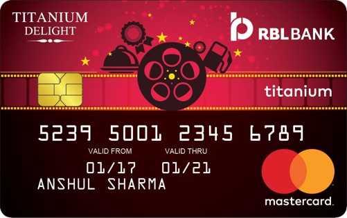 RBL Bank Titanium Delight Card