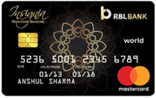 Insignia Preferred Banking World Card