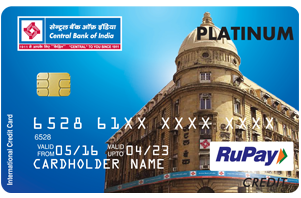 Central Bank of India RuPay Platinum Credit Card