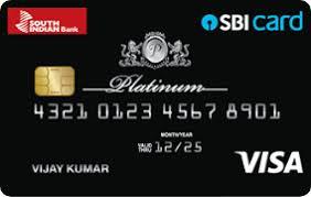 South Indian Bank- SBI Platinum Card