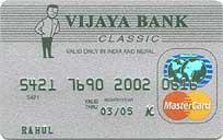 Vijaya Bank Mastercard Classic Credit Card