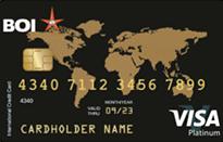 Bank Of India Visa Gold International Credit Card