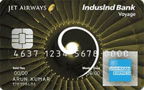 Jetairways Indusind bank voyage credit card