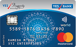 YES Prosperity BUSINESS Credit Card