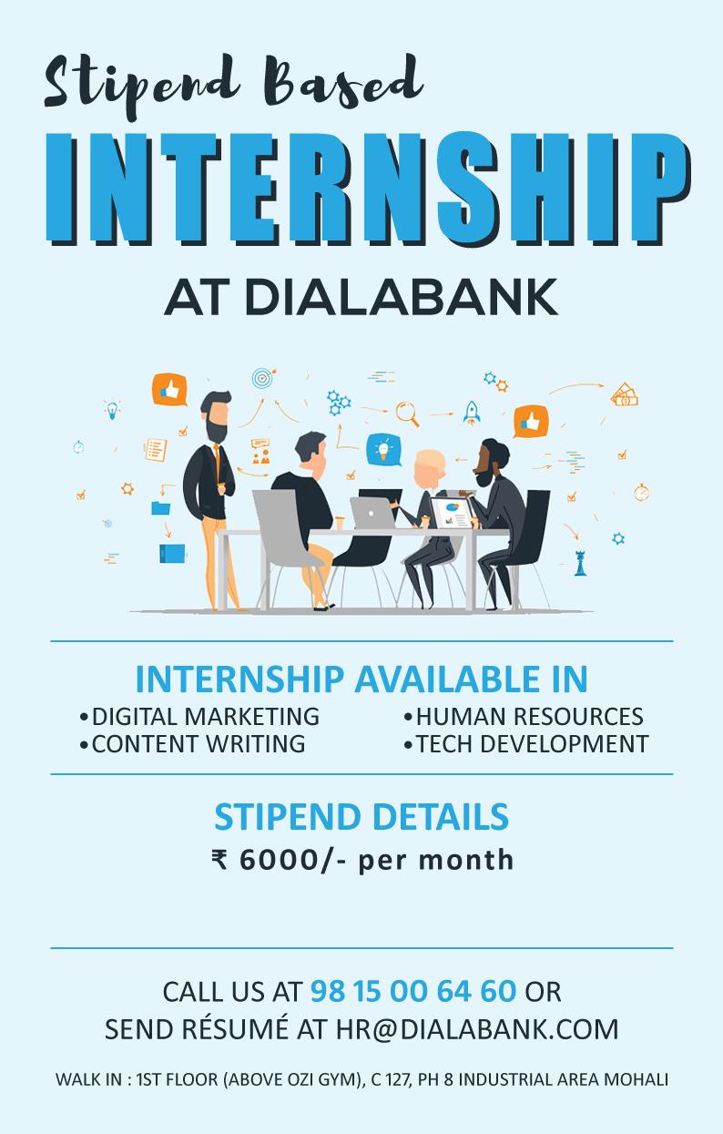 Stipend Based Internship at Dialabank
